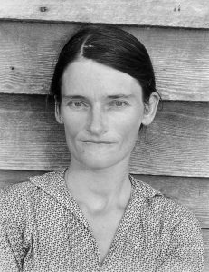 "This iconic photo of Allie Mae Burroughs during the Great Depression shows a woman who was more than just a ""tenant farmer's wife"". (The photo was taken by Walker Evans for the Farm Security Administration.)"