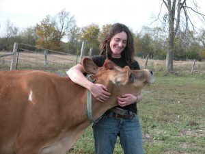 mcbay andrea with jersey cow