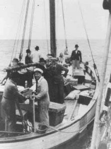 Danish fishermen help smuggle Jews out of Nazi-Occupied Denmark, 1943.