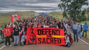 Standing Rock demonstrators (via Injustice Boycott)
